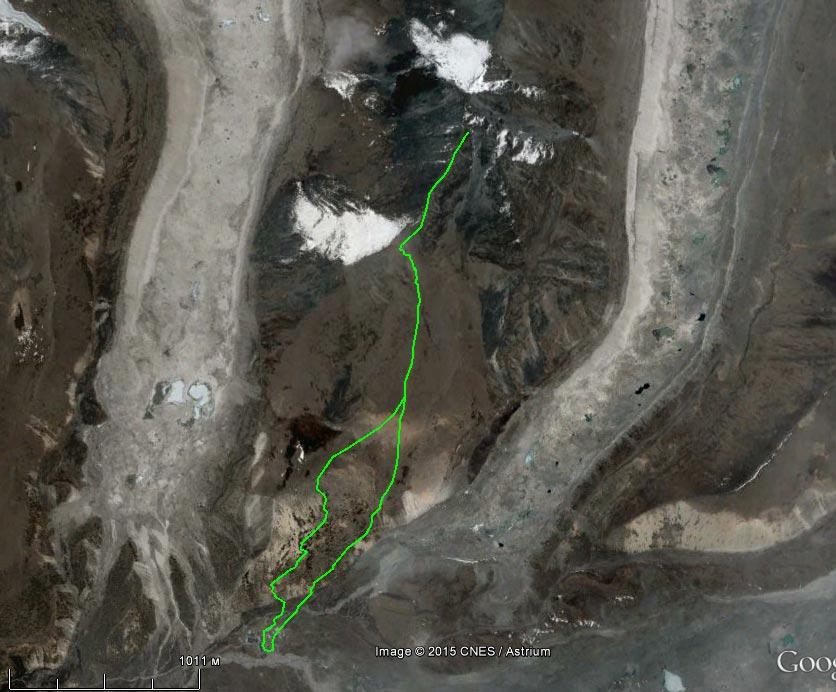 Спутниковый снимок маршрута 10 апреля