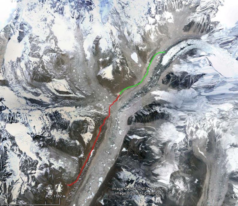 Спутниковый снимок маршрута 12 апреля