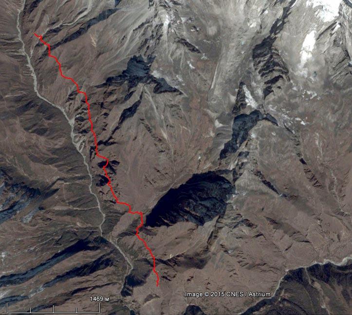 Спутниковый снимок маршрута 15 апреля
