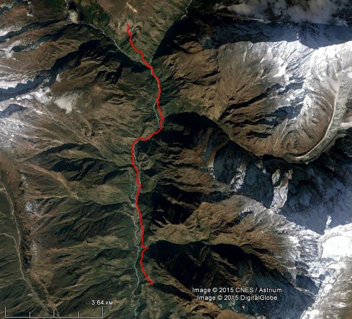 Спутниковый снимок маршрута 23 апреля