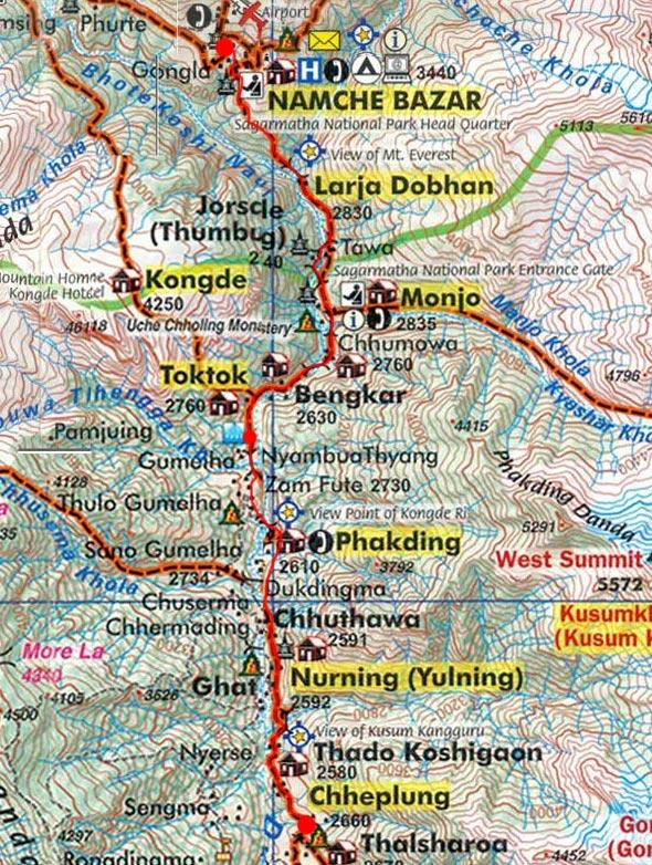 Карта маршрута 23 апреля
