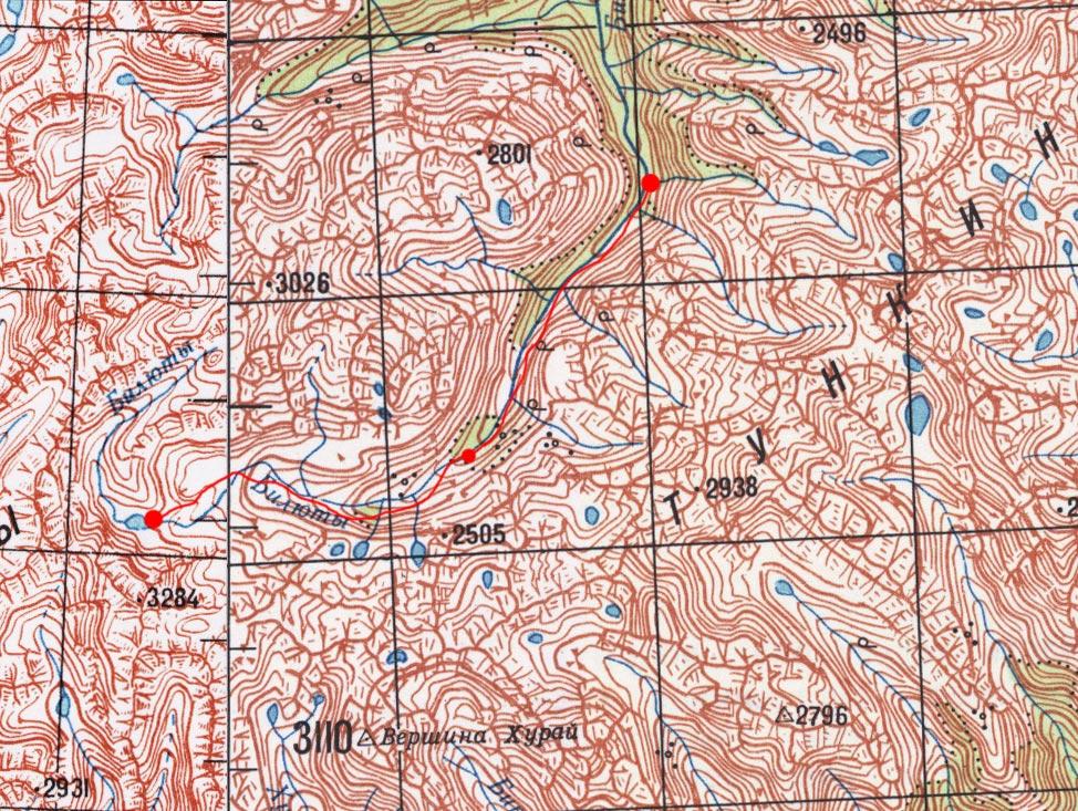 Карта маршрута 4 августа