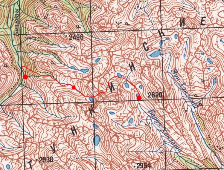 Карта маршрута 5 августа