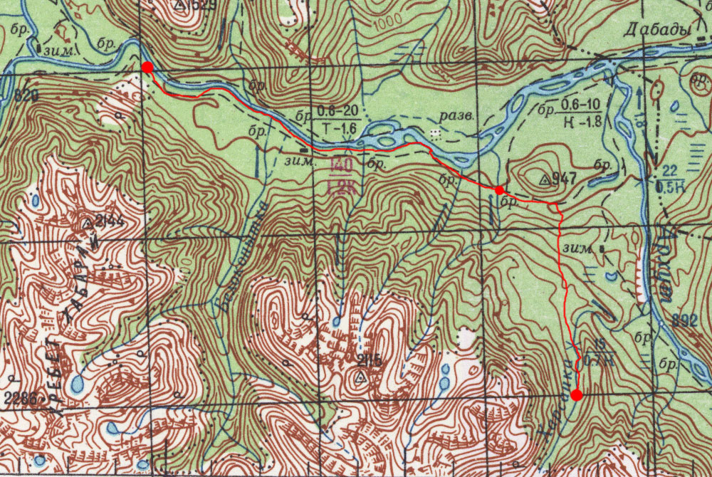Карта маршрута 27 июля