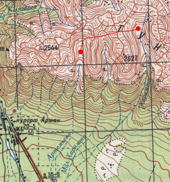 Карта маршрута 29 июля