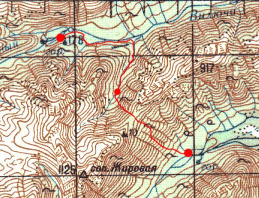 Карта маршрута 7 августа