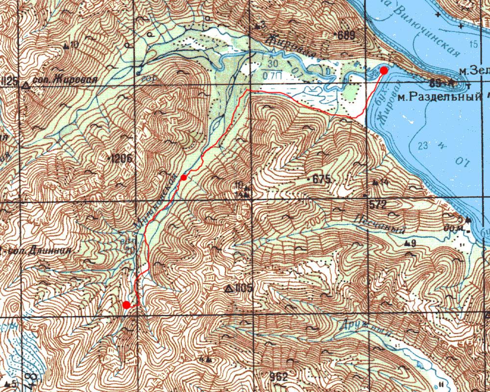 Карта маршрута 9 августа
