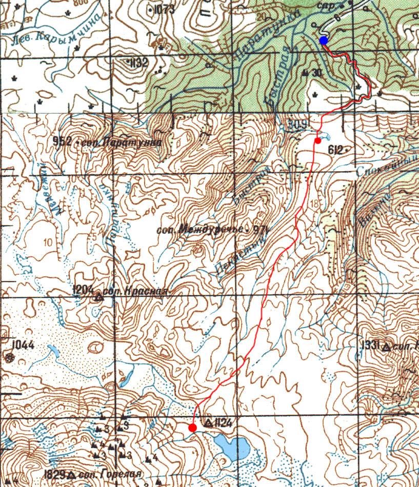 Карта маршрута 16 августа