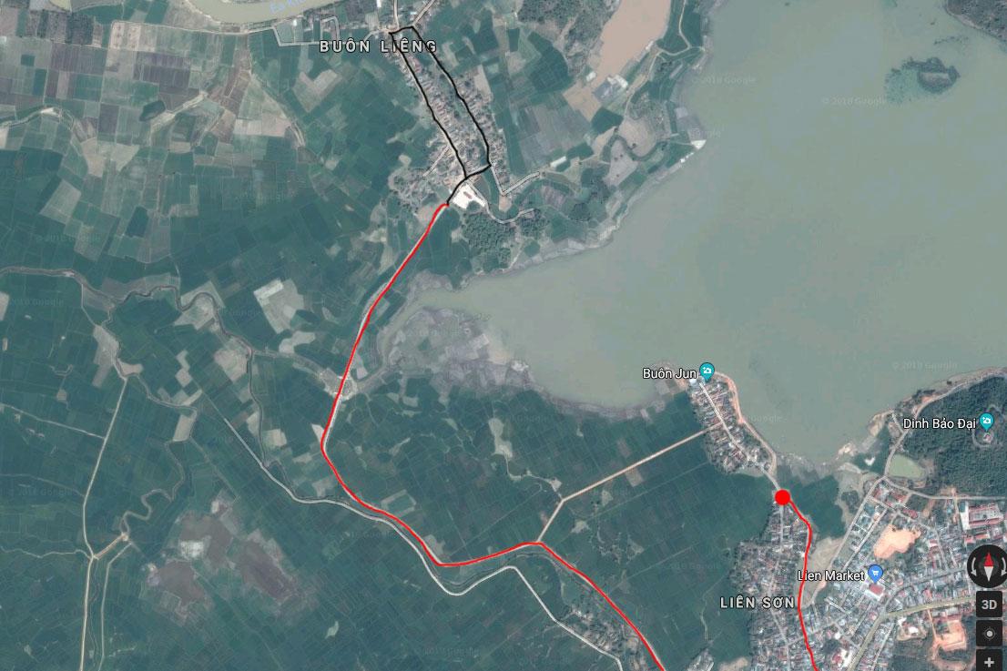 Карта поездки в деревню мнонгов