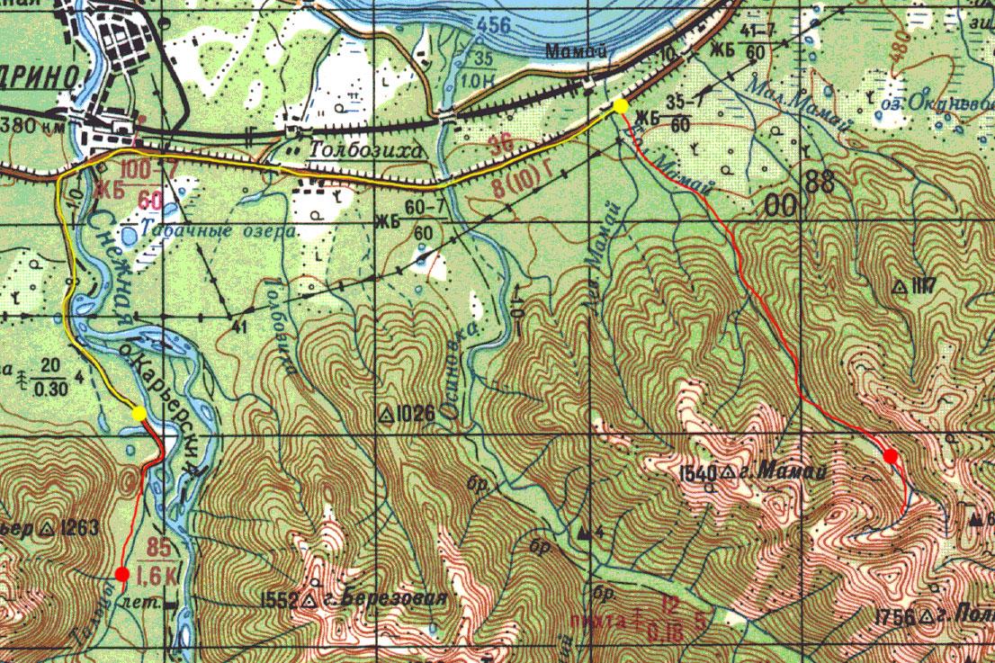 Карта пути 30 апреля