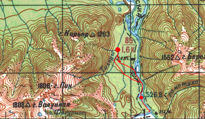 Карта пути 1 мая