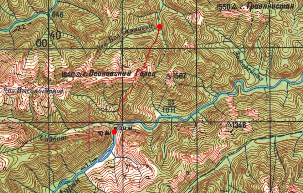 Карта пути 1 июня