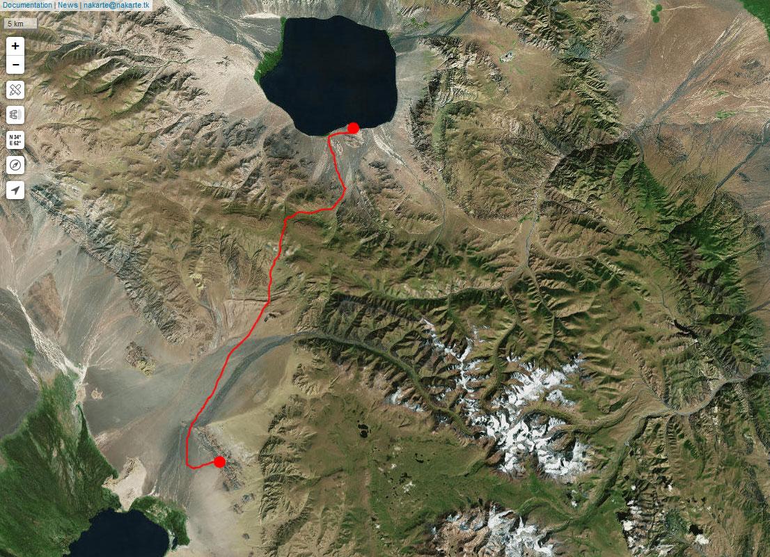 Спутниковый снимок нашего маршрута 25 июня