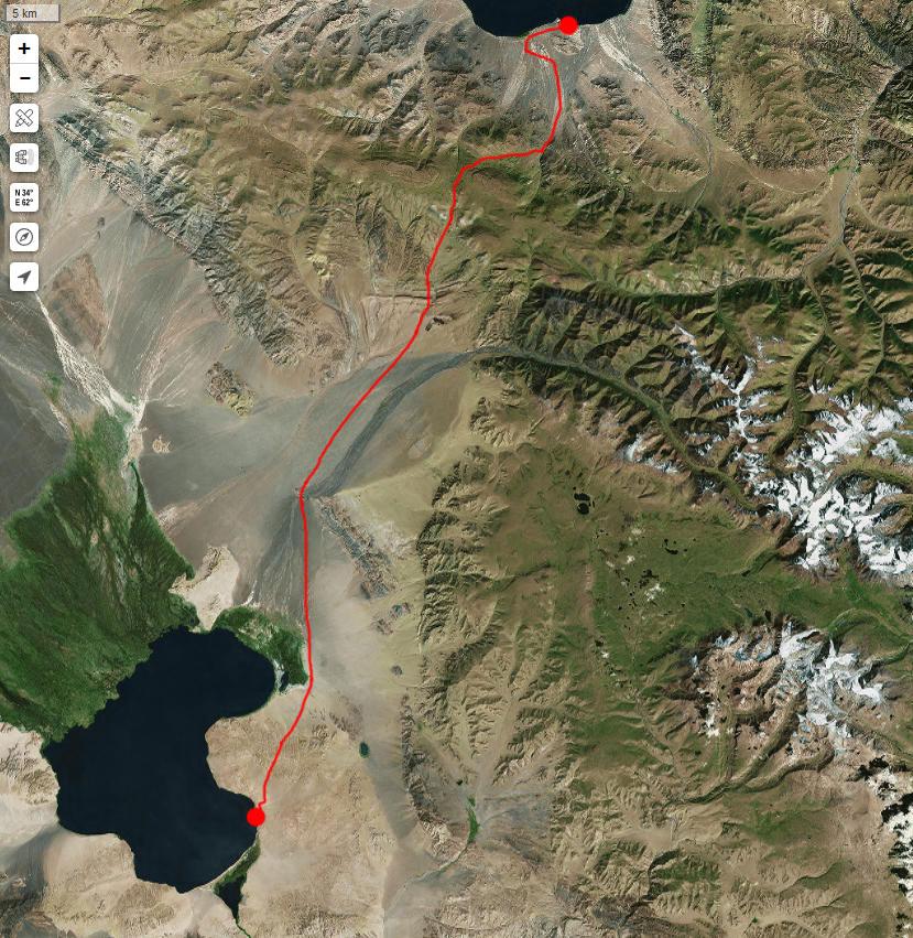 Спутниковый снимок нашего маршрута 26 июня