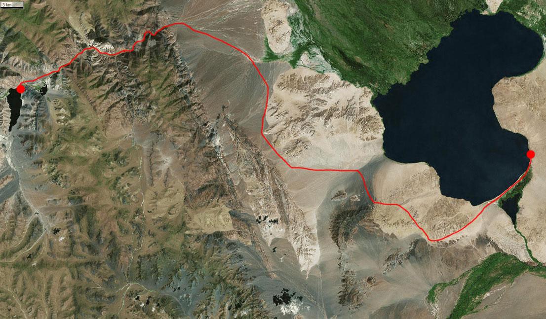 Спутниковый снимок нашего маршрута 29 июня