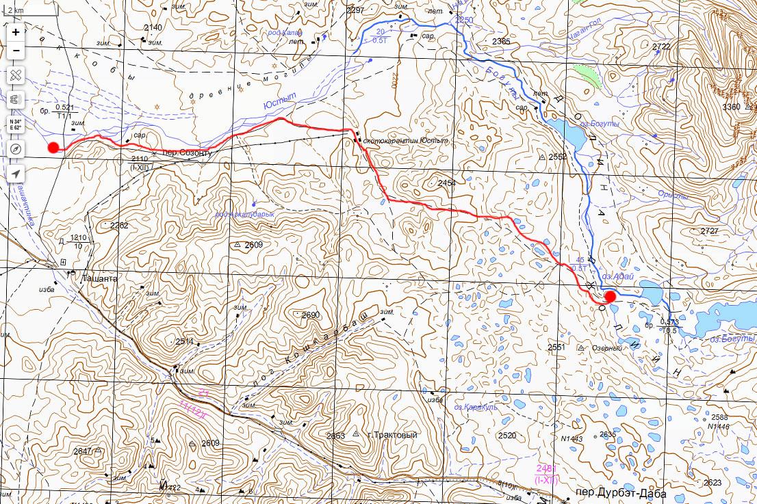 Карта нашего маршрута 1 июля