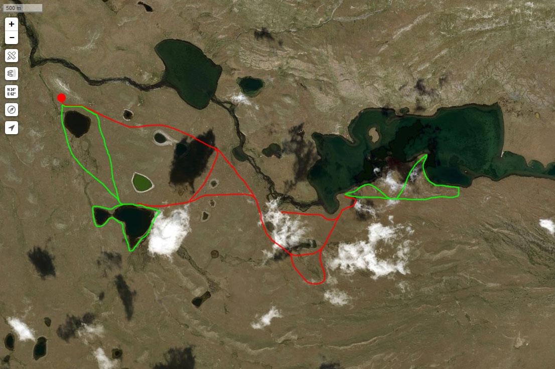 Спутниковый снимок нашего маршрута 2 июля