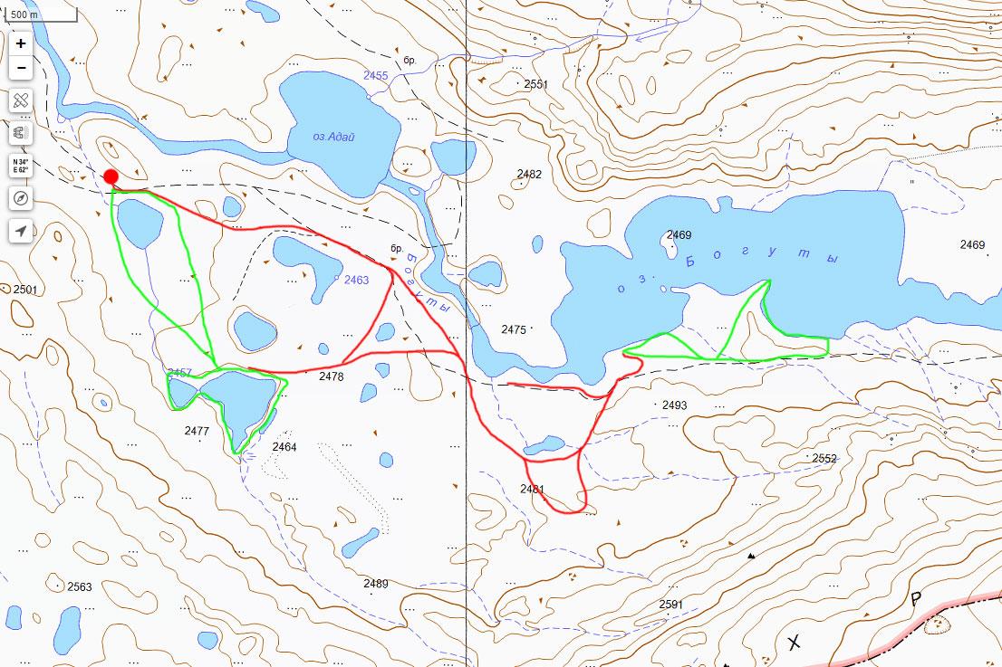 Карта нашего маршрута 2 июля