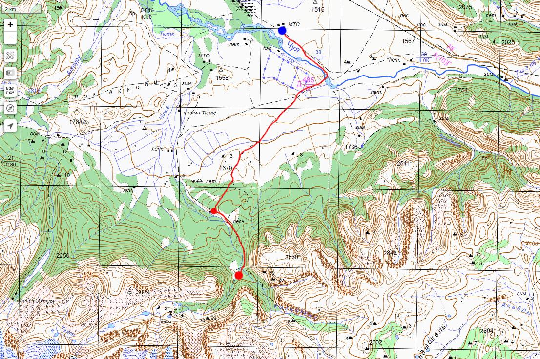 Карта маршрута 7 июля