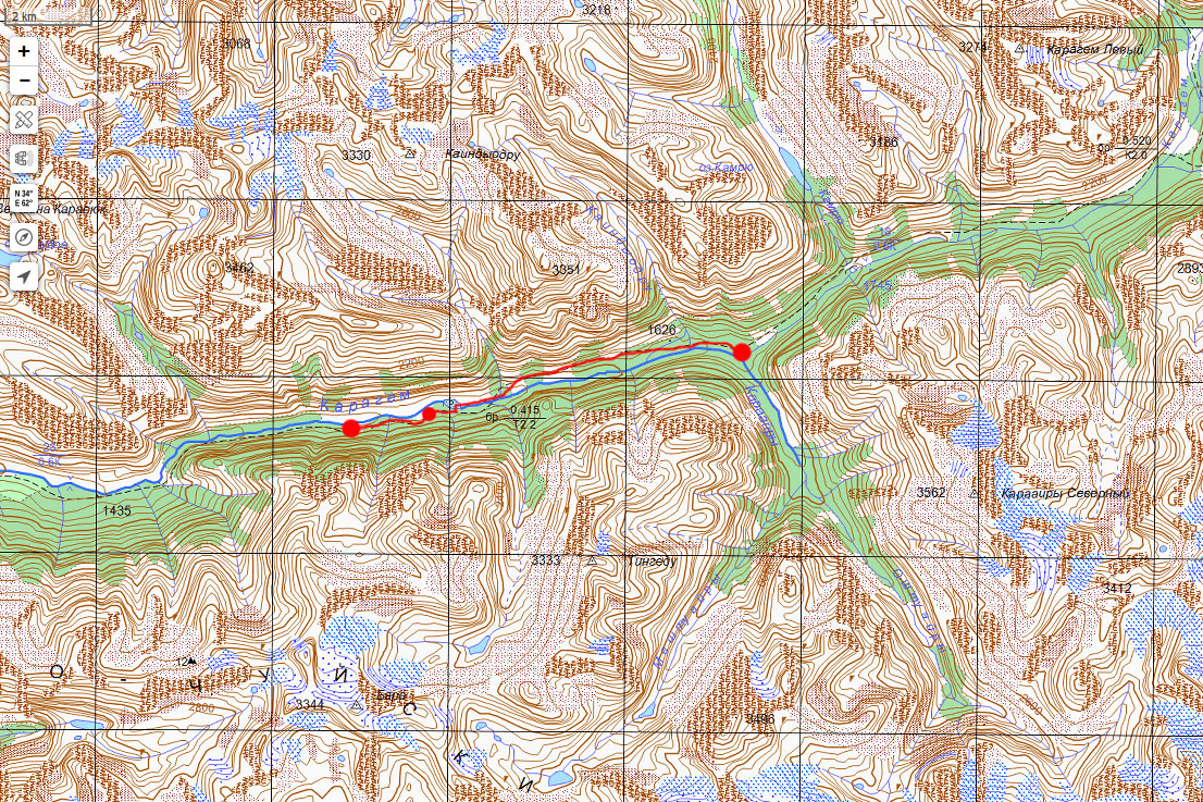 Карта маршрута 11 июля