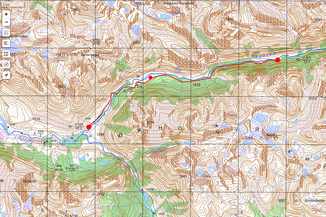 Карта маршрута 12 июля