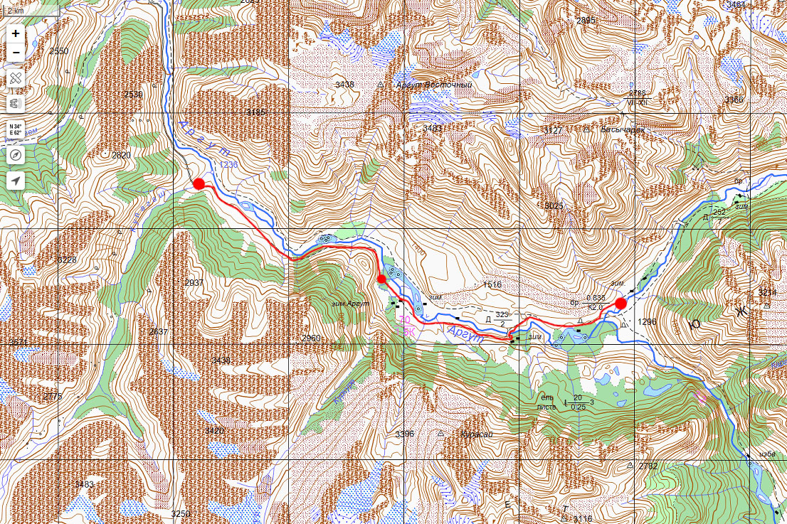 Карта маршрута 13 июля