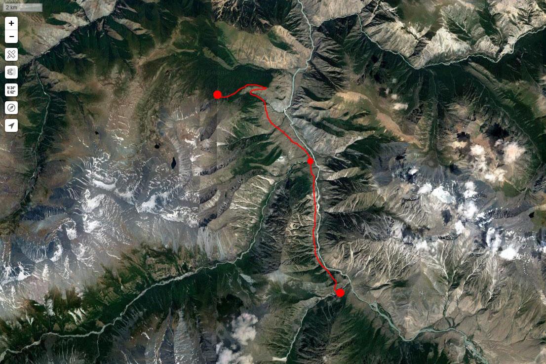 Спутниковый снимок маршрута 14 июля
