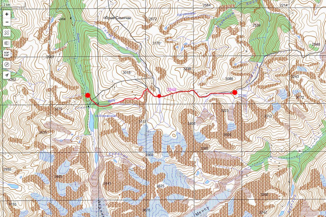 Карта маршрута 16 июля