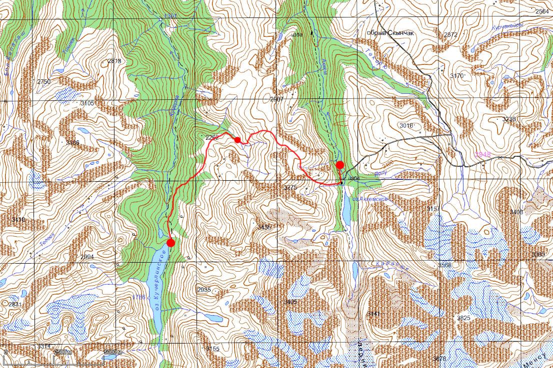 Карта маршрута 18 июля