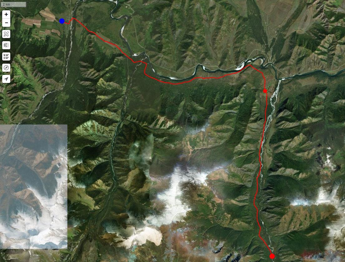 Спутниковый снимок маршрута 24 июля