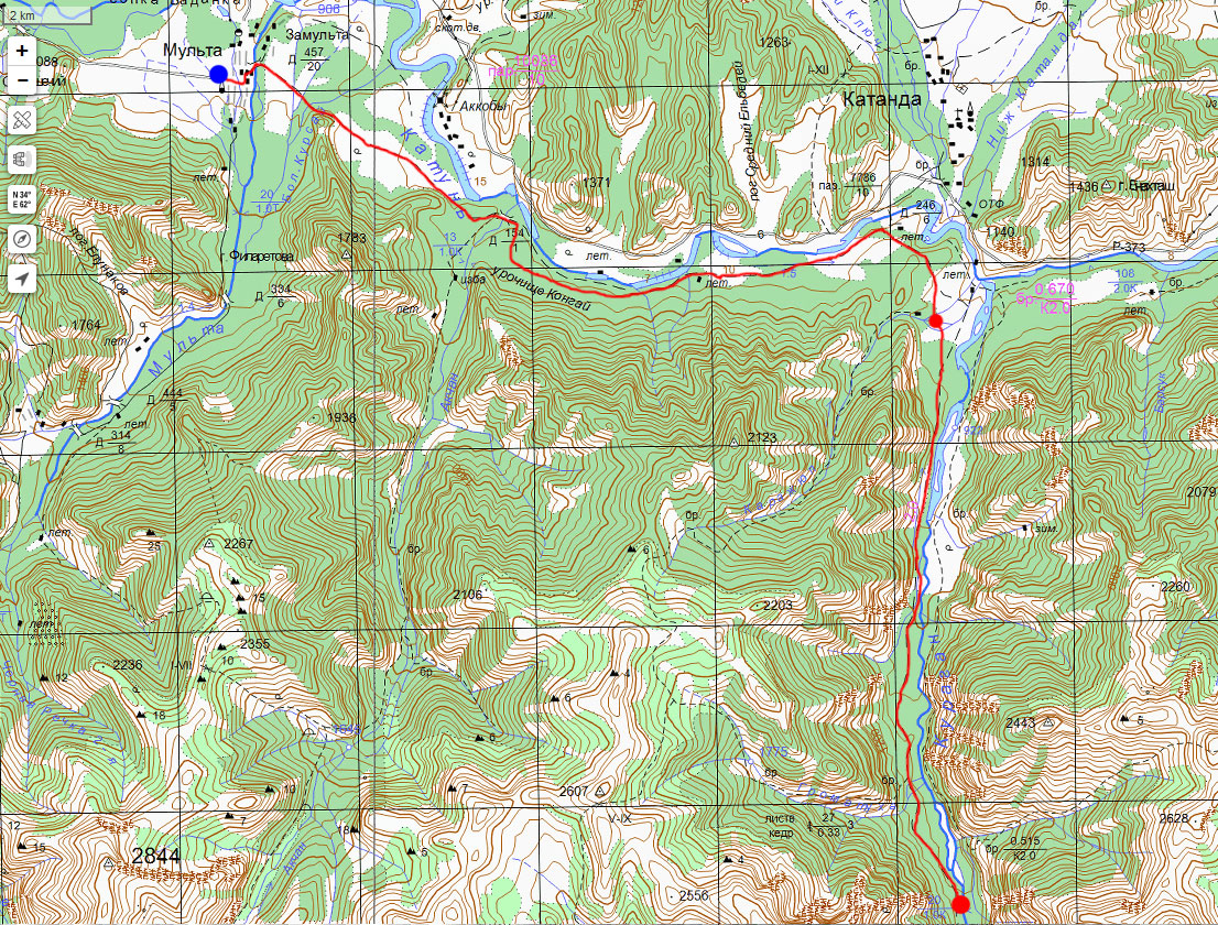 Карта маршрута 24 июля