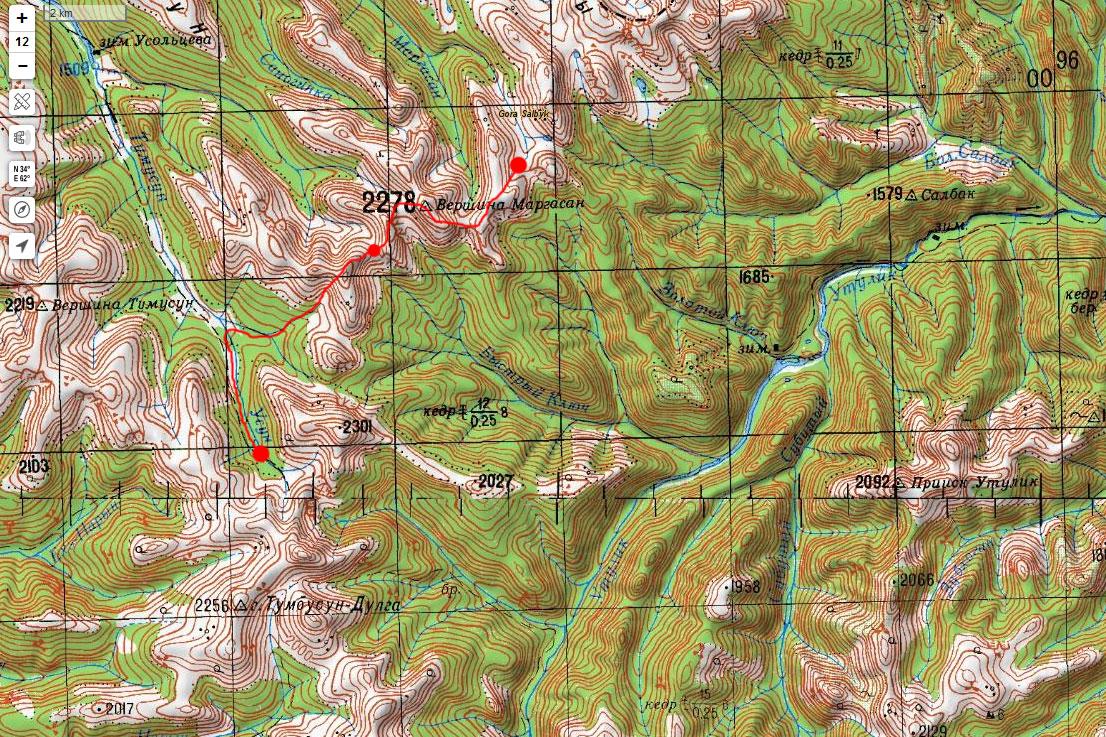 Карта маршрута 15 июня