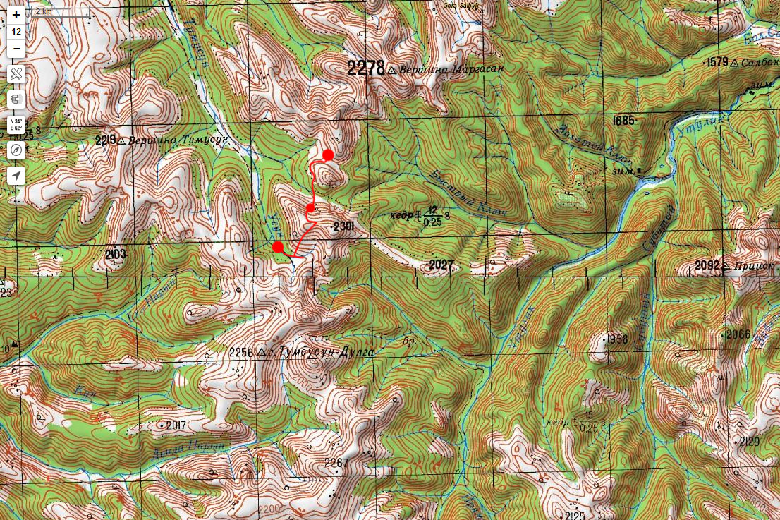 Карта маршрута 16 июня