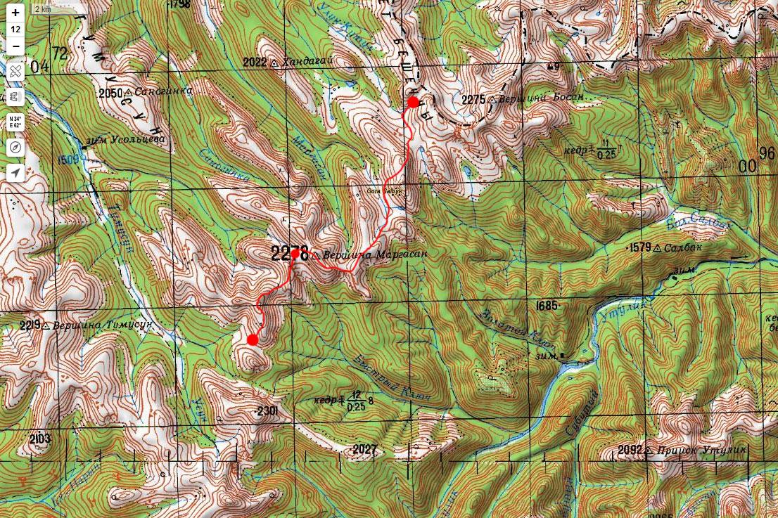 Карта маршрута 17 июня