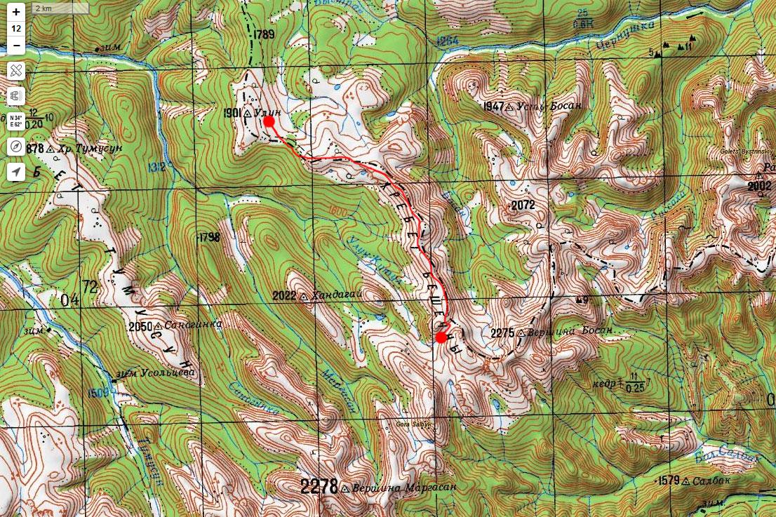 Карта маршрута 18 июня