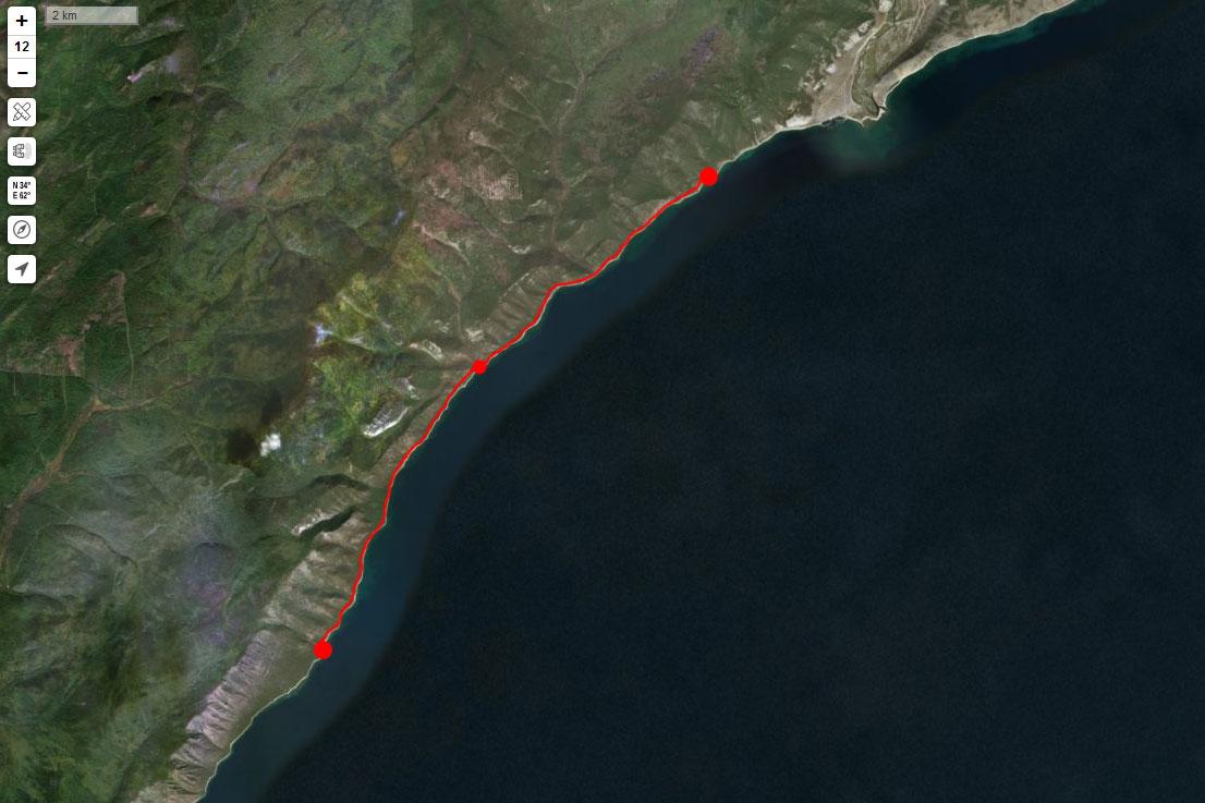 Спутниковый снимок маршрута 1 сентября