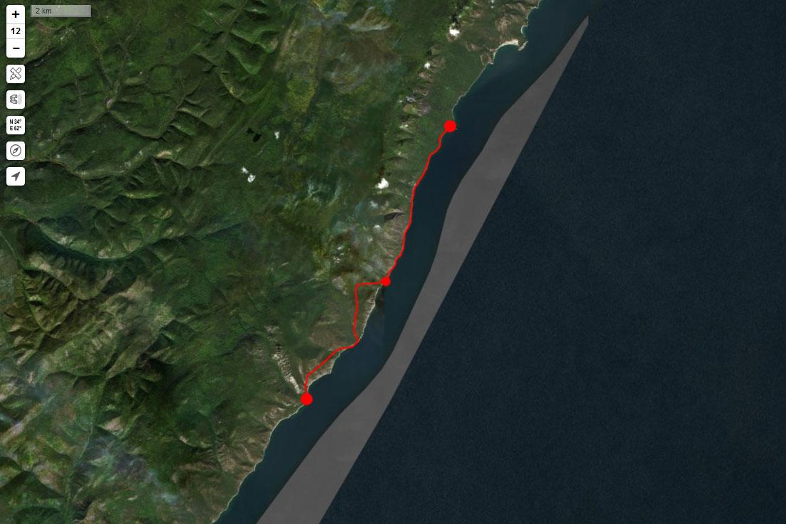 Спутниковый снимок маршрута 4 сентября