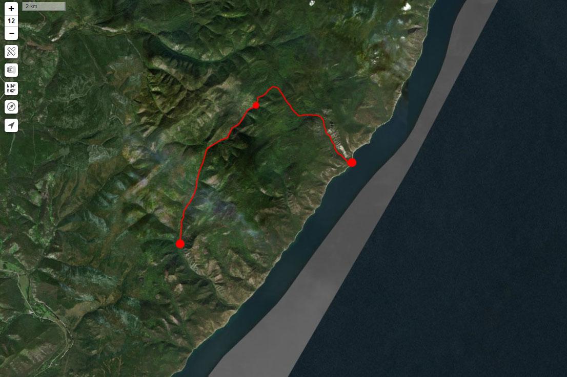 Спутниковый снимок маршрута 5 сентября