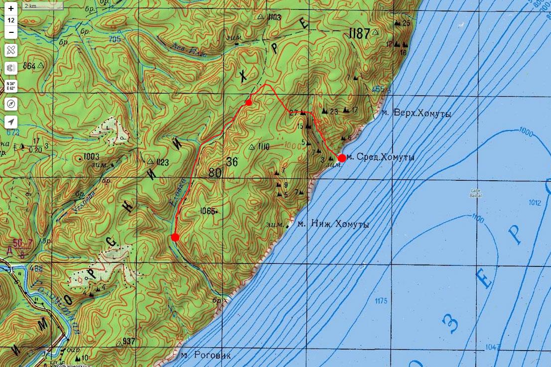 Карта маршрута 5 сентября