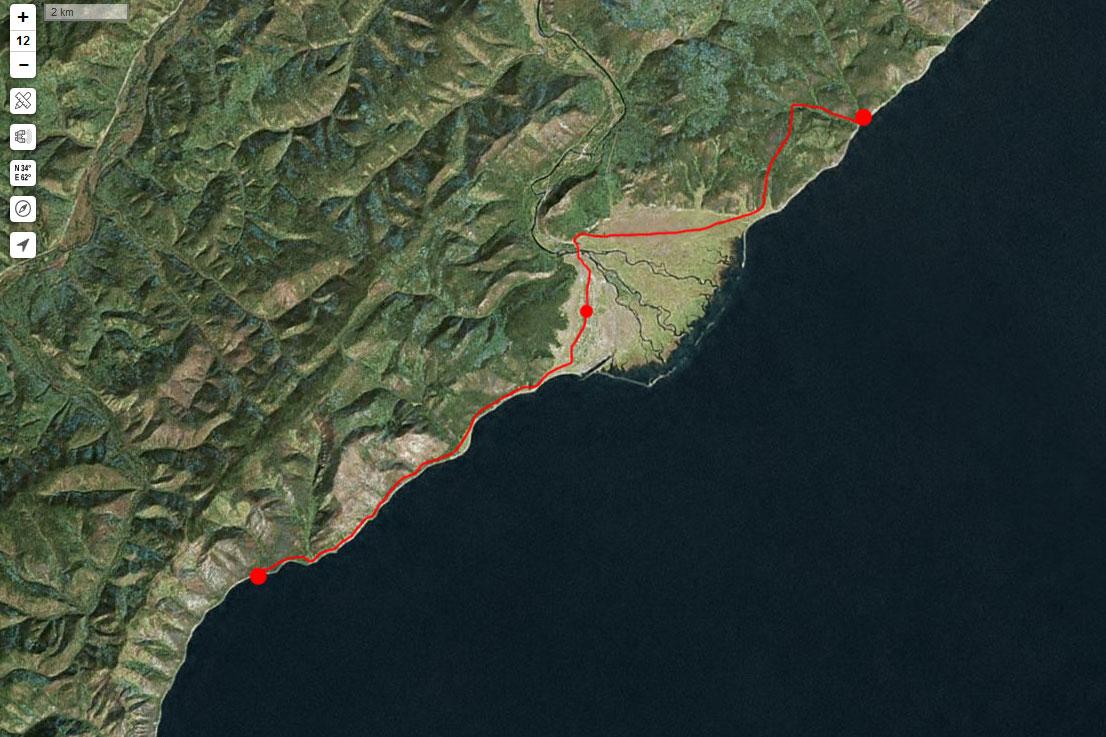 Спутниковый снимок маршрута 7 сентября