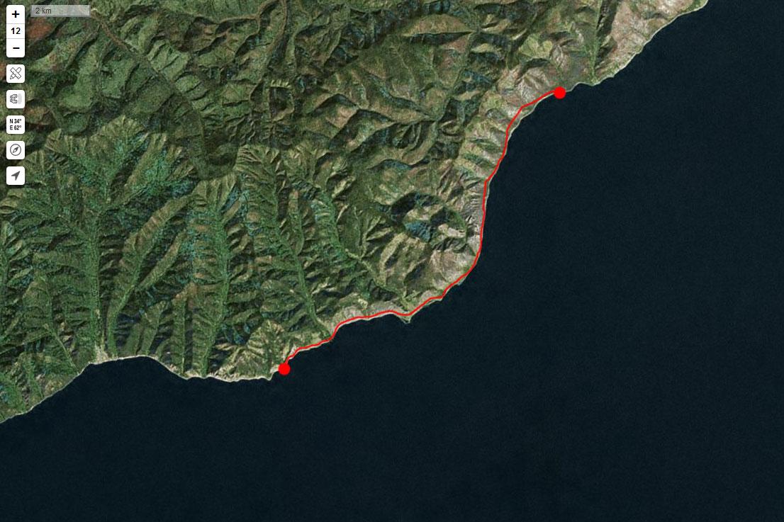 Спутниковый снимок маршрута 8 сентября