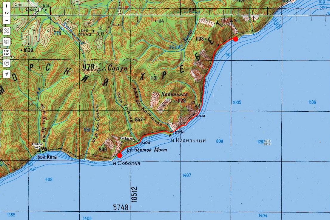 Карта маршрута 8 сентября