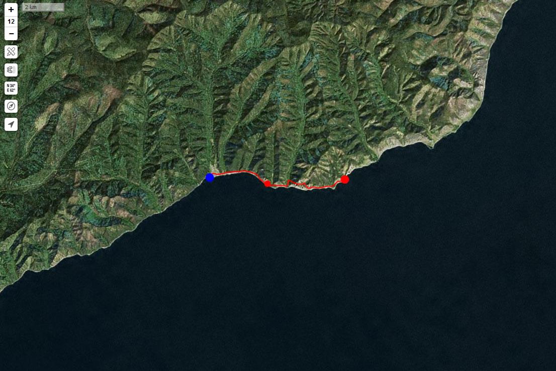 Спутниковый снимок маршрута 10 сентября