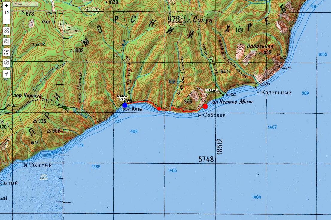 Карта маршрута 10 сентября