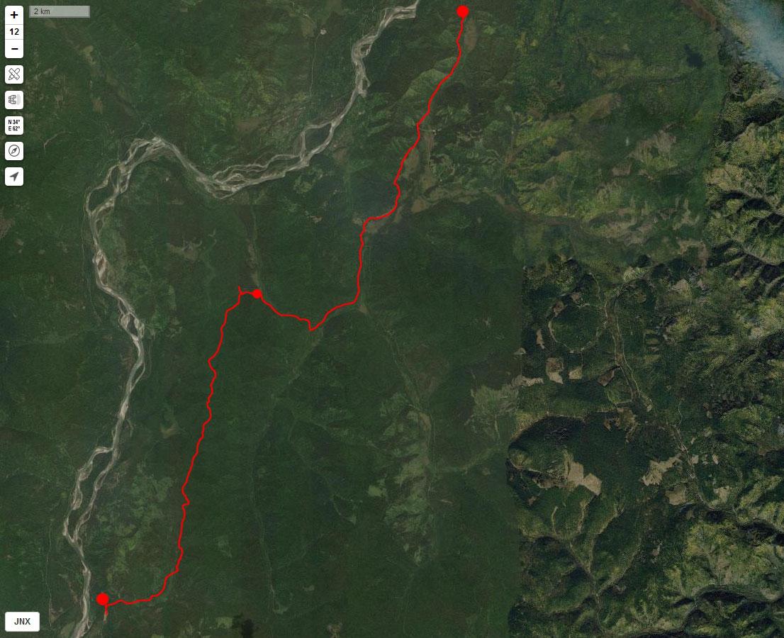 Спутниковый снимок маршрута 1 мая
