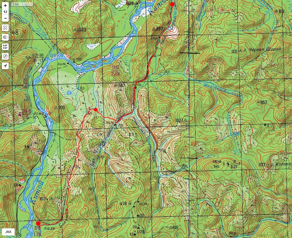 Карта маршрута 1 мая