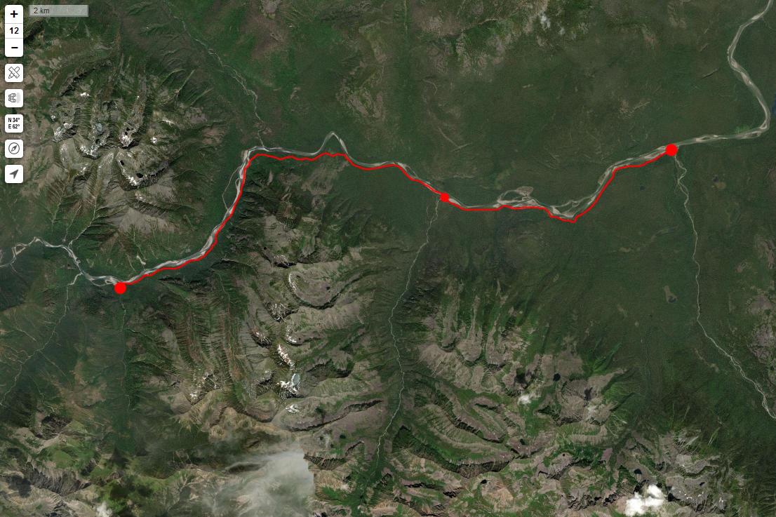 Спутниковый снимок маршрута 3 мая
