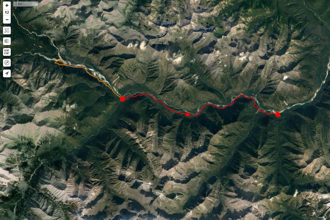Спутниковый снимок маршрута 4 мая