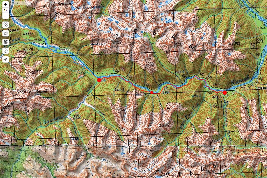 Карта маршрута 4 мая