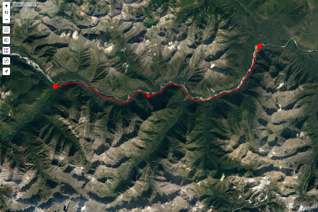 Спутниковый снимок маршрута 5 мая
